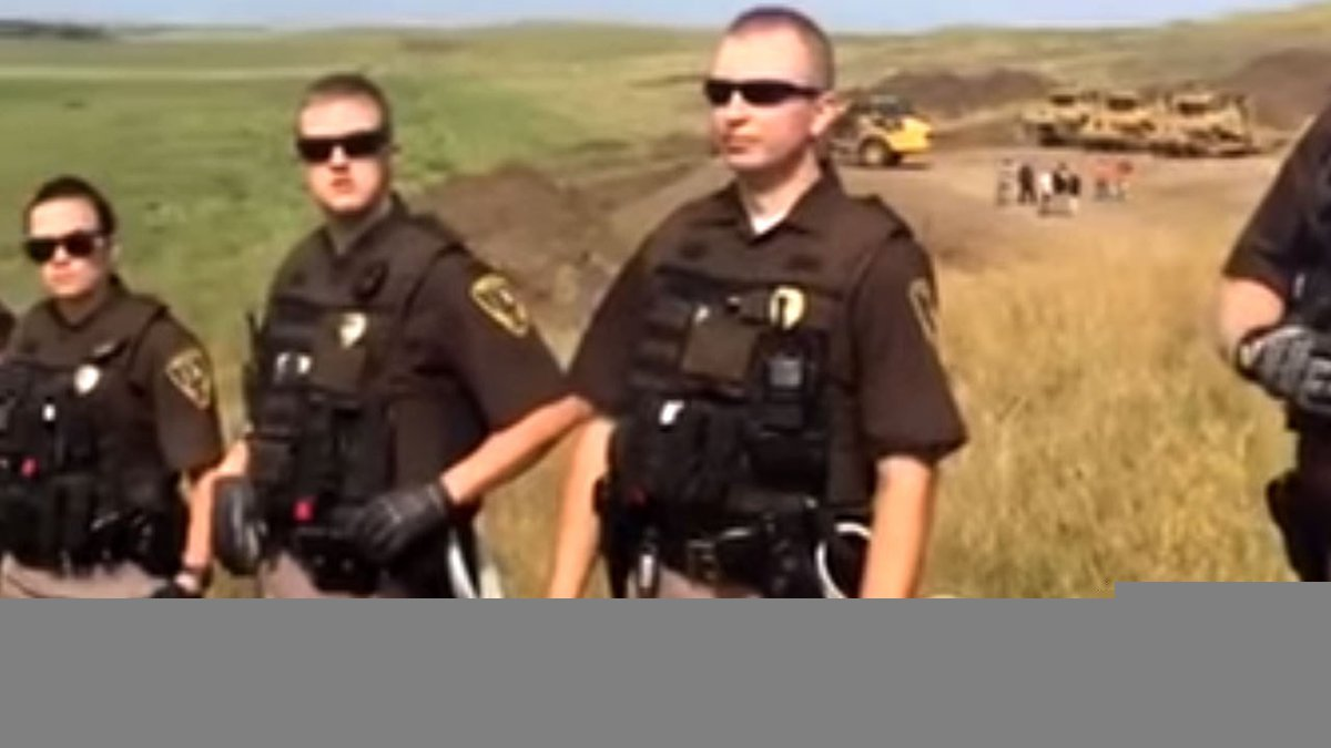 Police at the North Dakota pipeline protest, Photo Date: September 4, 2016
