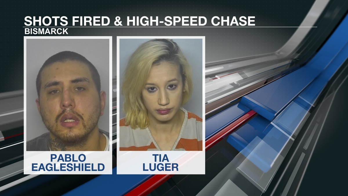 Pair arrested for shooting gun and fleeing police through Bismarck