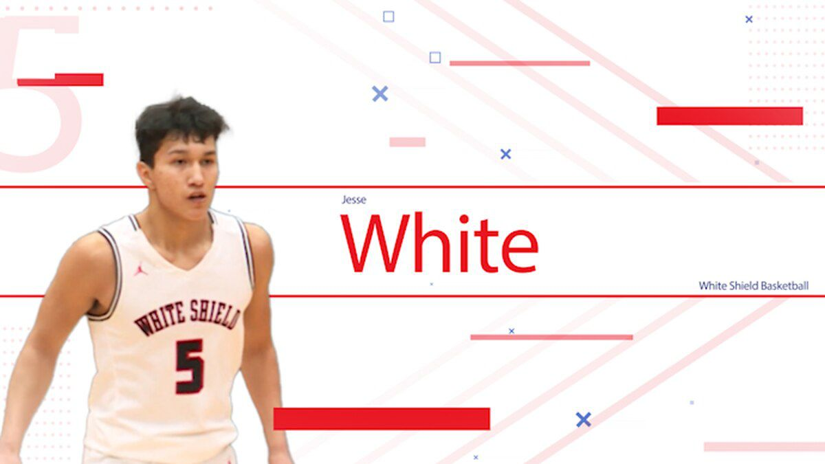 Jesse White of White Shield is North Dakota's Mr. Basketball for 2021, receiving 80 points...