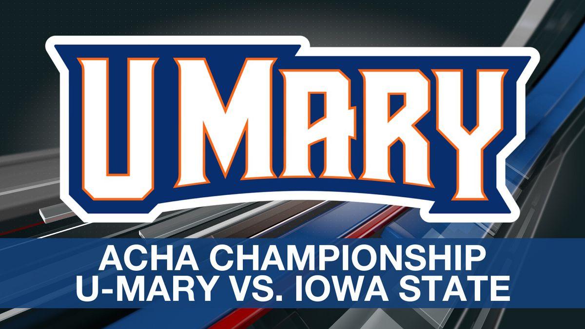 The University of Mary Marauders men's hockey team won the ACHA Div. II championship Tuesday,...