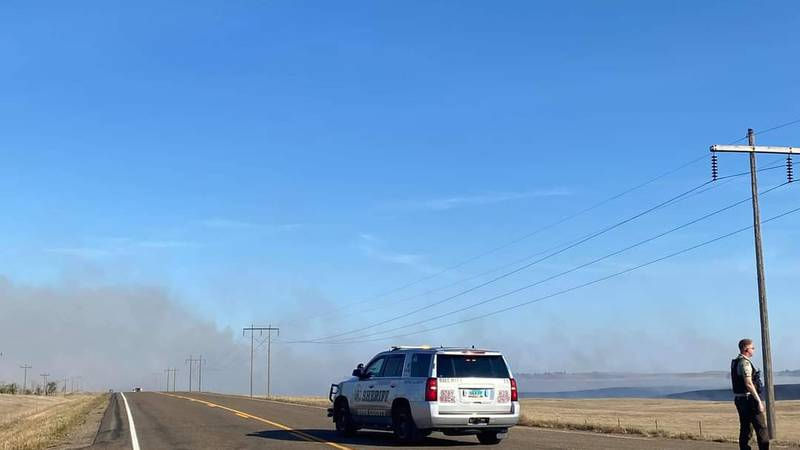"""""""Very large"""" fire in Dunn County"""
