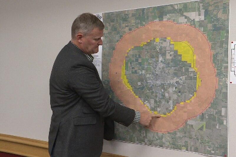 Dickinson's extra territorial zone map