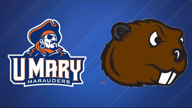 U-Mary and Minot State logos