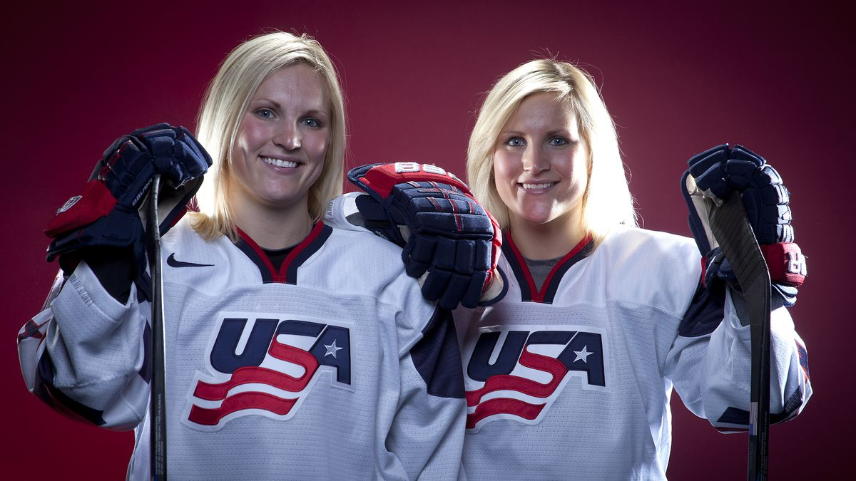 FILE - In this Oct. 2, 2013, file photo, United States Olympic Winter Games hockey players...