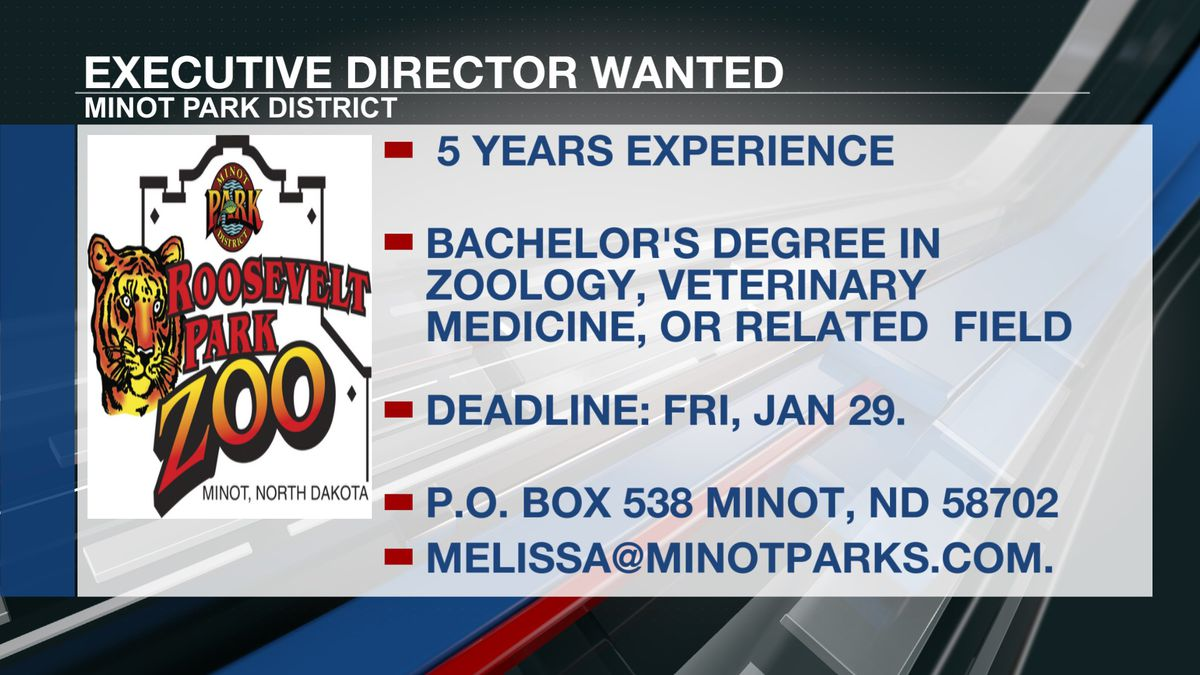 Hiring is being handled by the Minot Park District.