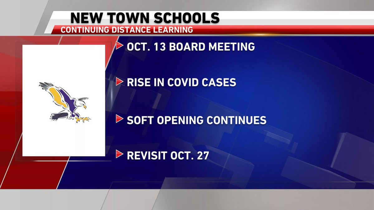 The New Town School District will hold off on returning to face-to-face instruction for now.