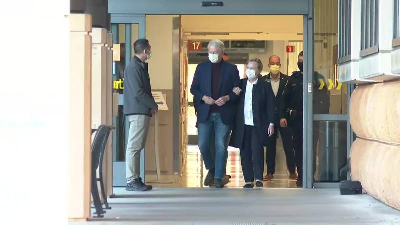 Former President Bill Clinton was released from a Southern California hospital Sunday.