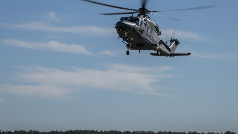 The MH-139A Grey Wolf was unveiled and named during the ceremony at Duke Field, Fla., Dec. 19,...