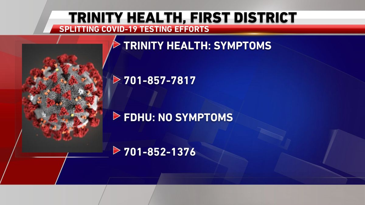 Trinity Health, First District to split COVID-19 testing efforts
