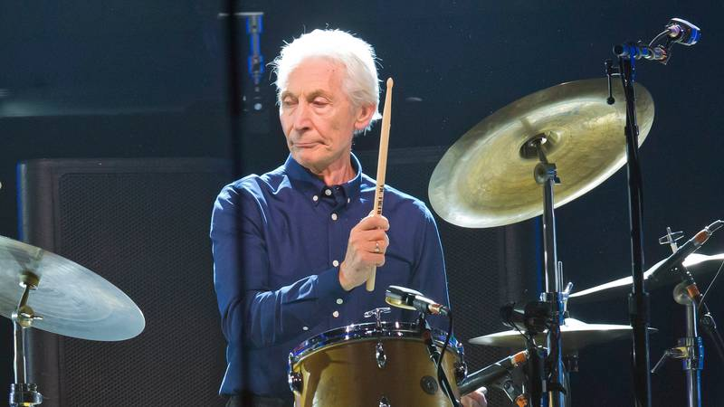 FILE - Charlie Watts, of the Rolling Stones, performs during a concert of the group's No Filter...