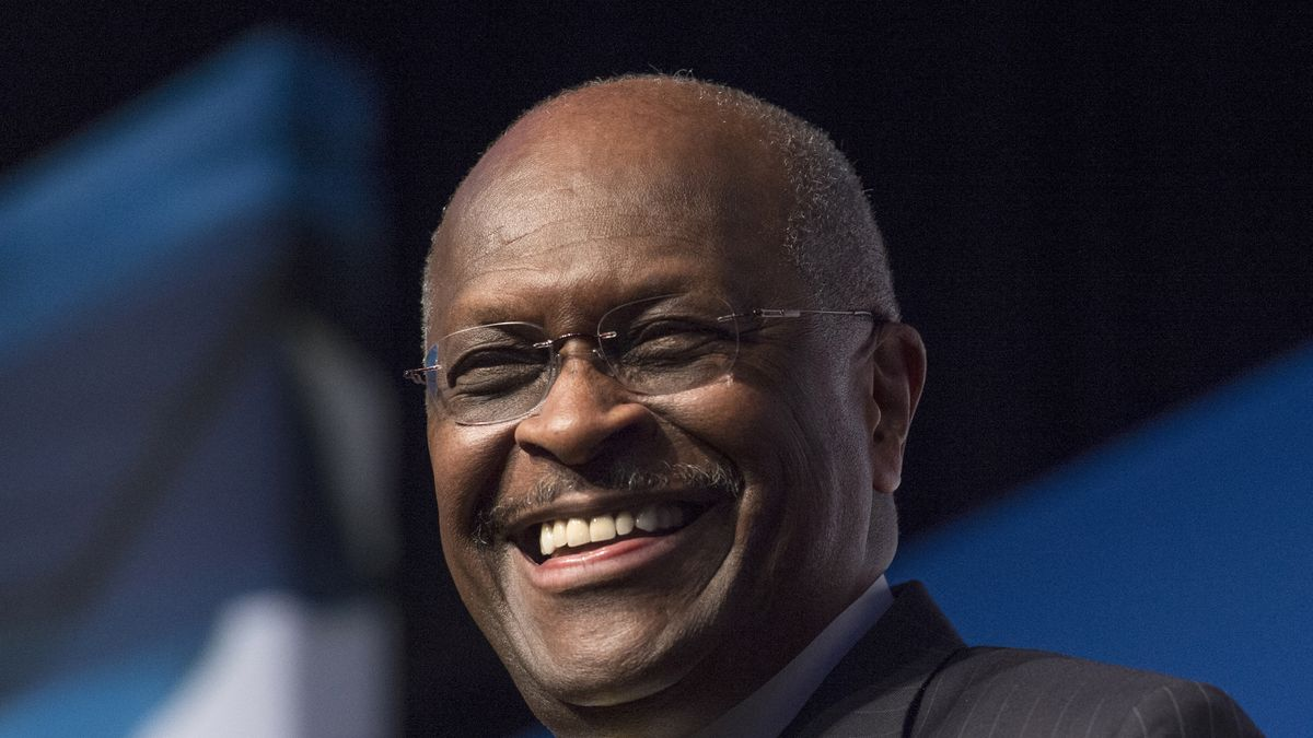 FILE - In this June 20, 2014, file photo, Herman Cain, CEO, The New Voice, speaks during Faith and Freedom Coalition's Road to Majority event in Washington.