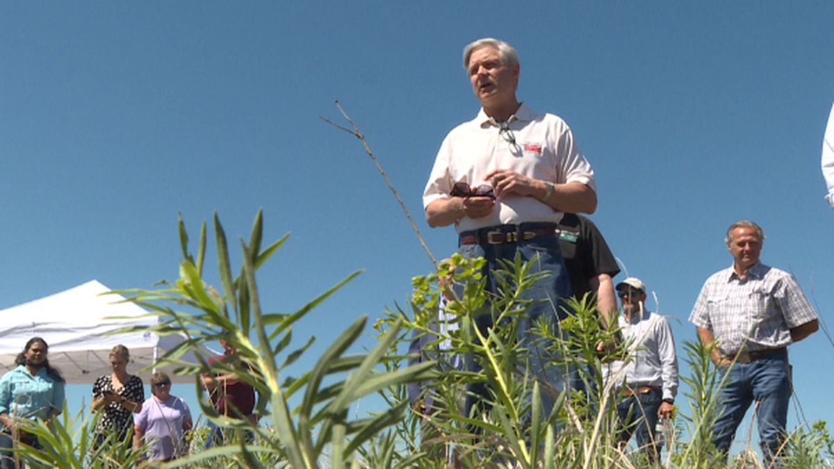 Senator Hoeven assessing the drought