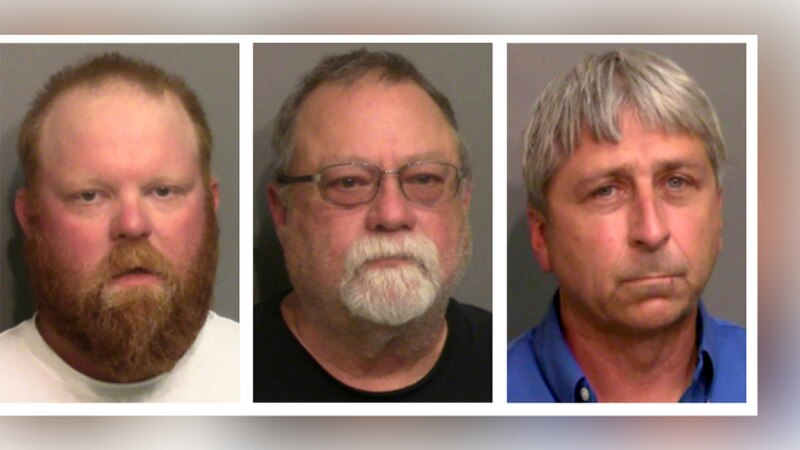 FILE - This combo of booking photos provided by the Glynn County, Ga., Detention Center, shows...
