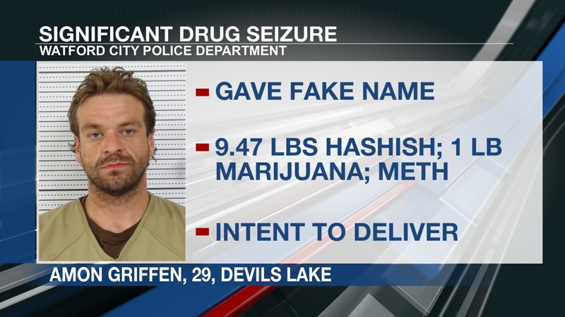 Watford City police say they made a significant drug seizure on Sunday.
