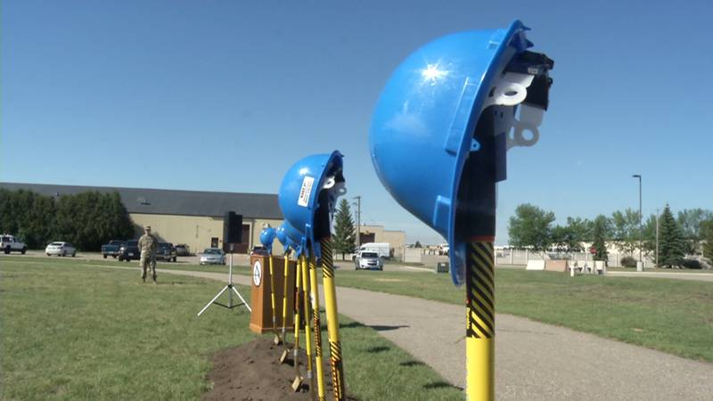 Groundbreaking at Minot AFB track