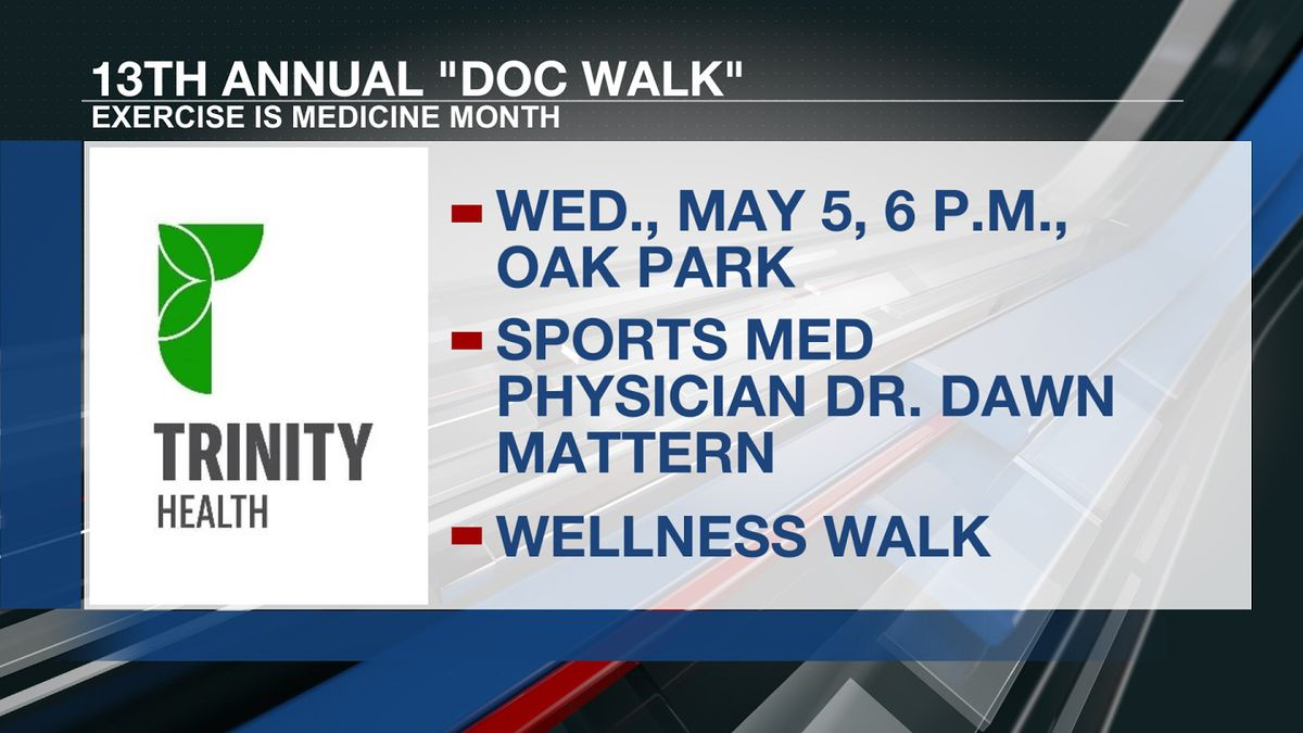 """The 13th annual """"Doc Walk"""" to commemorate Exercise is Medicine Month kicks off Wednesday."""