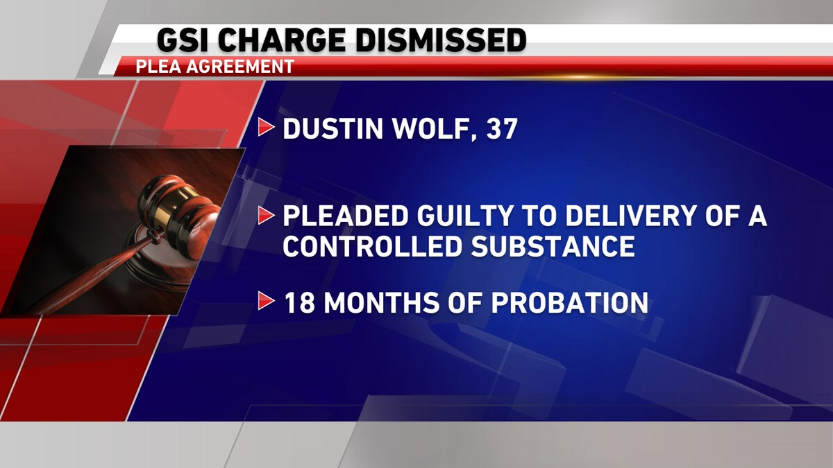 GSI dismissed, man pleads guilty to delivery charge