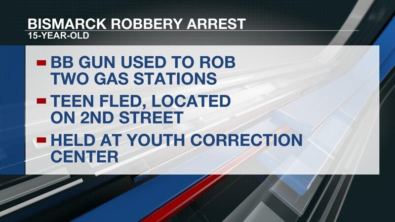 Bismarck gas station robberies