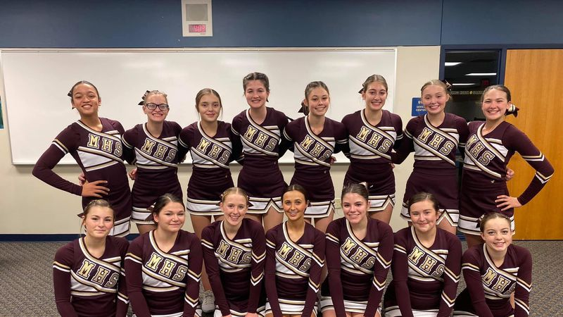Minot High Cheer team