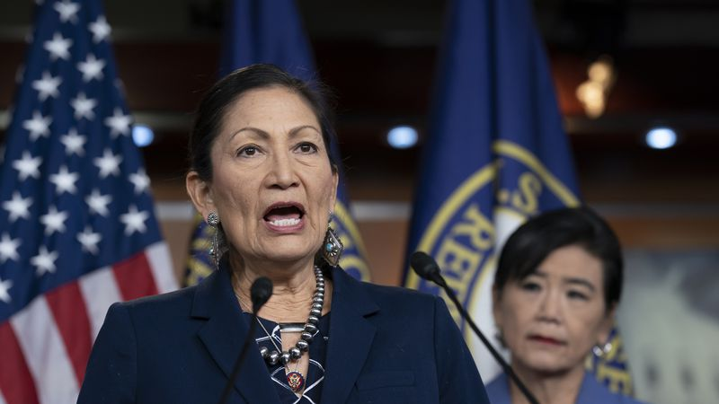 In this March 5, 2020, file photo Rep. Deb Haaland, D-N.M., Native American Caucus co-chair,...
