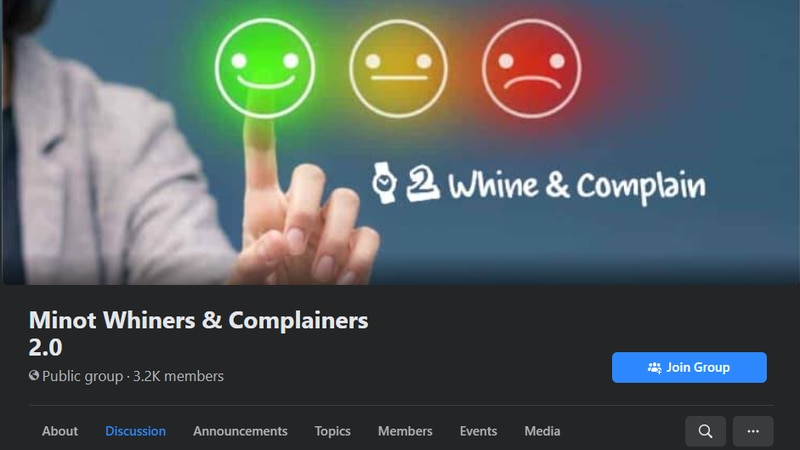 Minot Whiners & Complainers 2.0 page