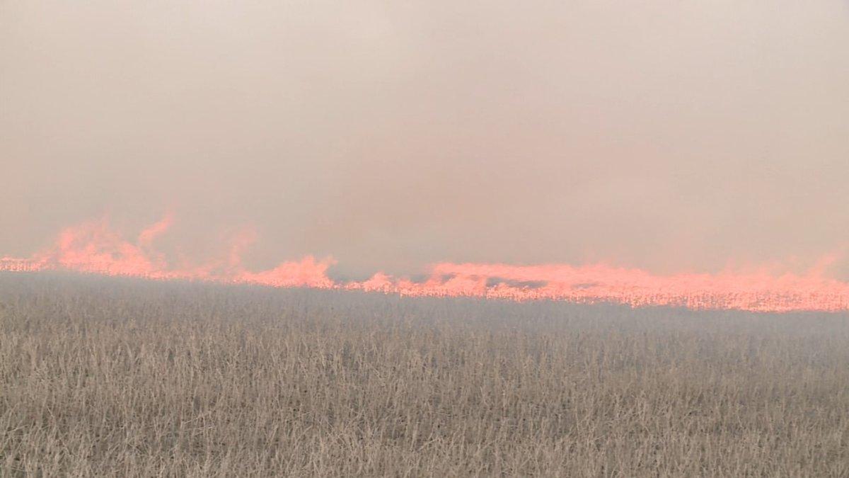 North Dakota grassfire
