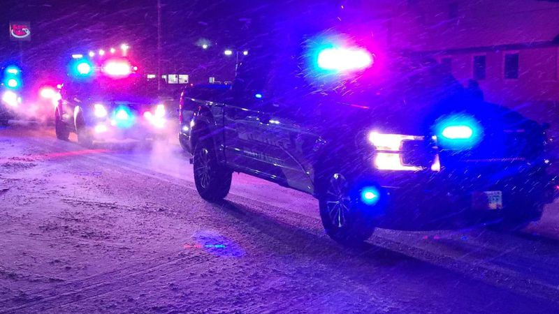 Light parade for Dep. Colt Allery