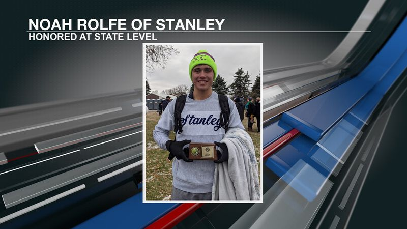 Stanley's Noah Rolfe nailed down second place in the Class B boys cross country race as well as...