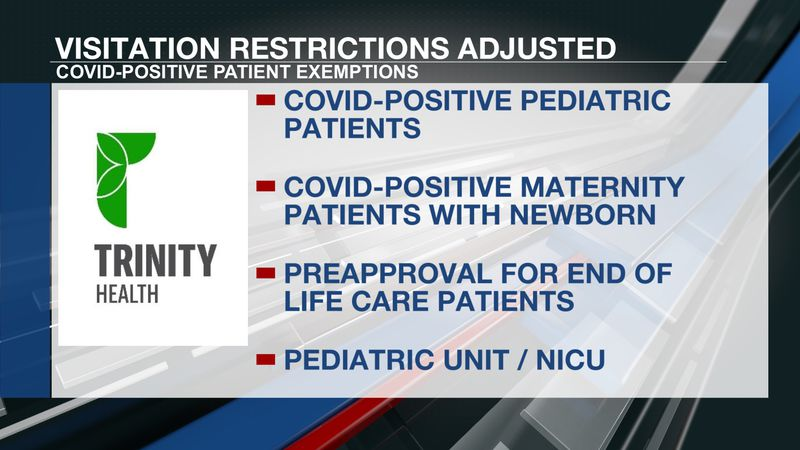 Trinity health adjusts visitation policies