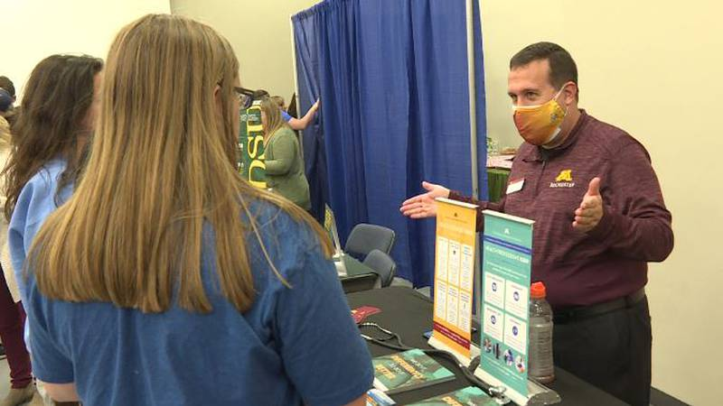 College fair hosted by BSC and UMary