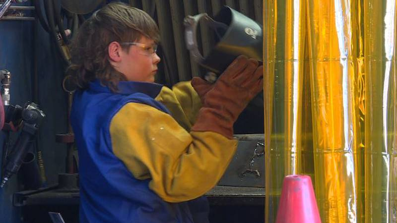 In the camp, students learn how to weld, basic math concepts and more.