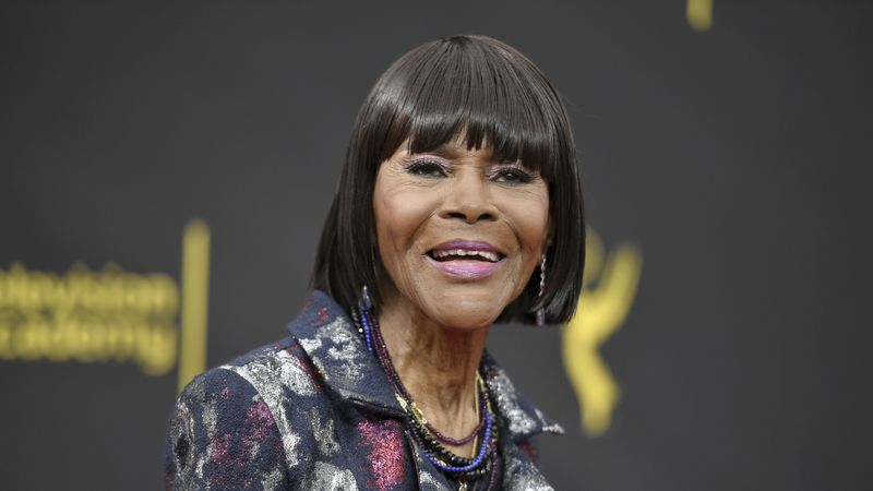 FILE - Cicely Tyson arrives at night two of the Creative Arts Emmy Awards on Sept. 15, 2019, in...