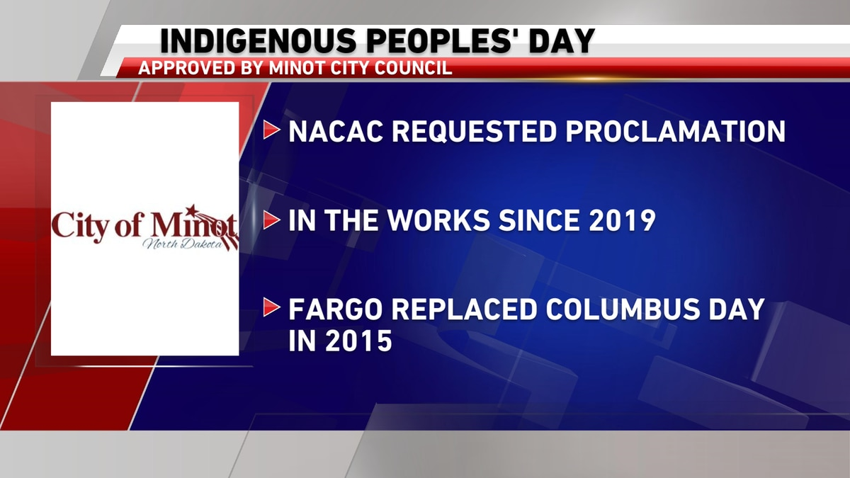 Minot leaders vote to recognize Indigenous Peoples' Day