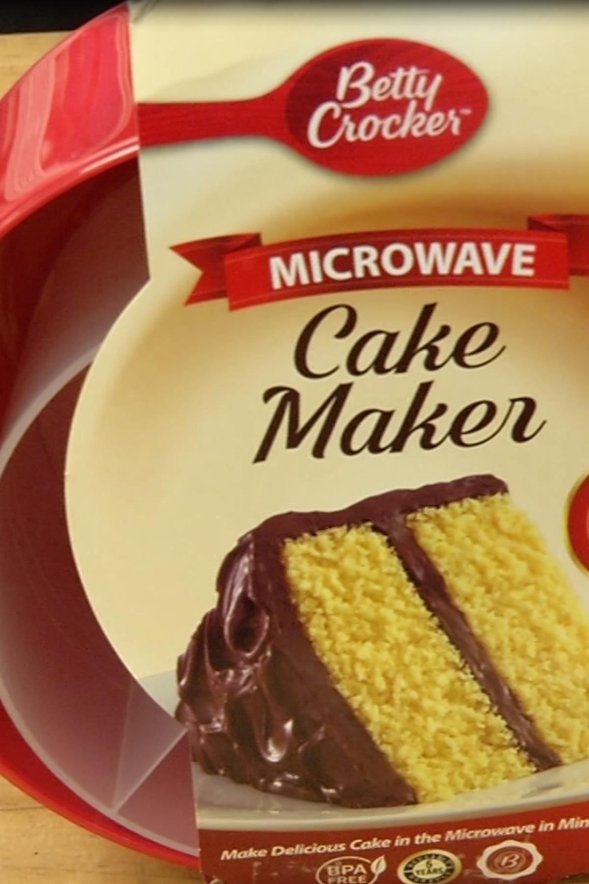 Don T Buy It Until We Try It Betty Crocker Microwave Cake Maker