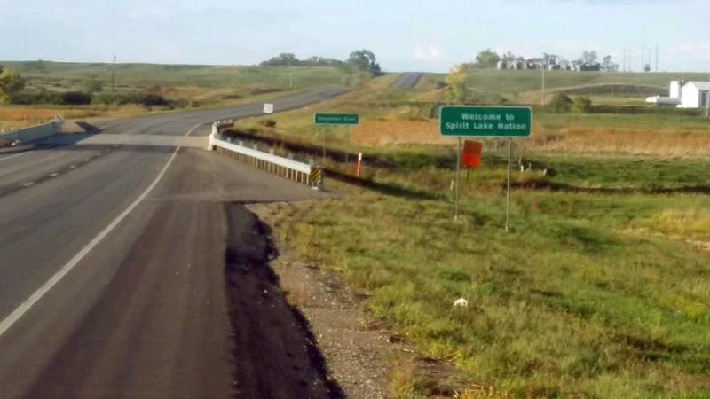 This Tuesday, Sept. 21, 2021 photo provided by Spirit Lake Tribal Chairman Doug Yankton shows a...