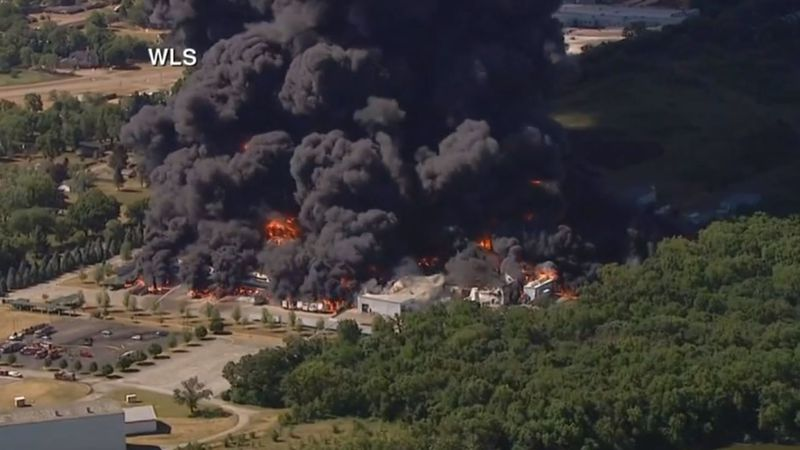 According to the Rockton (Ill.) fire chief, an area within a one-mile radius of the Chemtool...