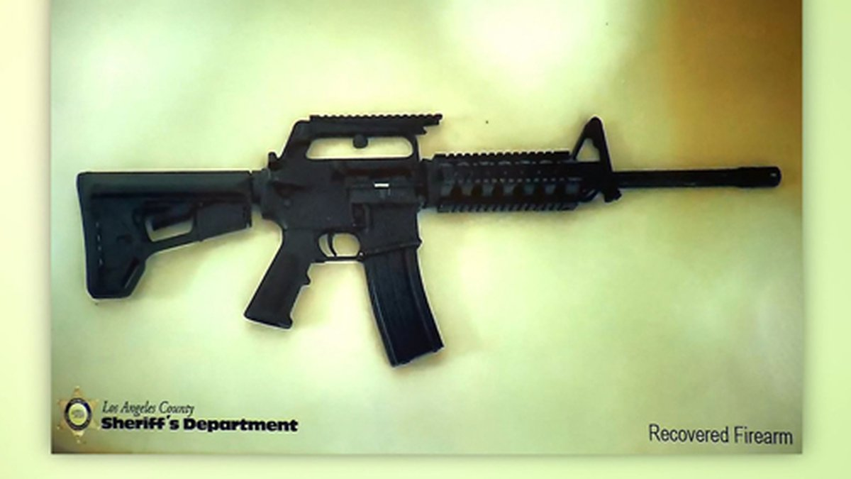 This picture shows a firearm recovered in a Los Angeles-area school shooting plot...