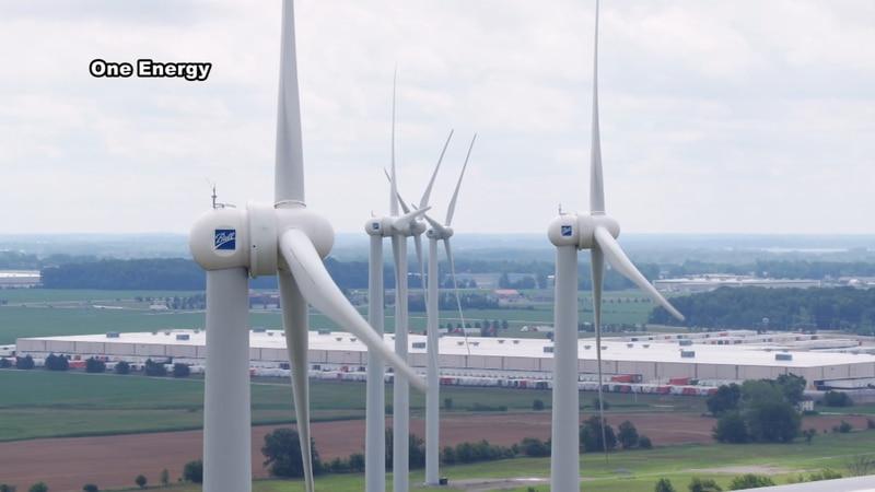 Proposed wind turbines