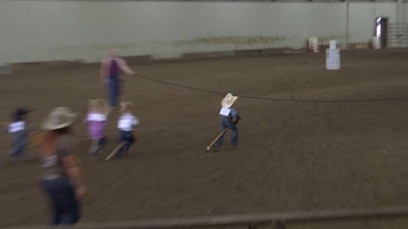 Young rodeo rider