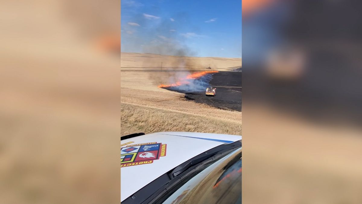 The McKenzie County Emergency Manager said this fire burned 200 acres of mostly cropland and an...