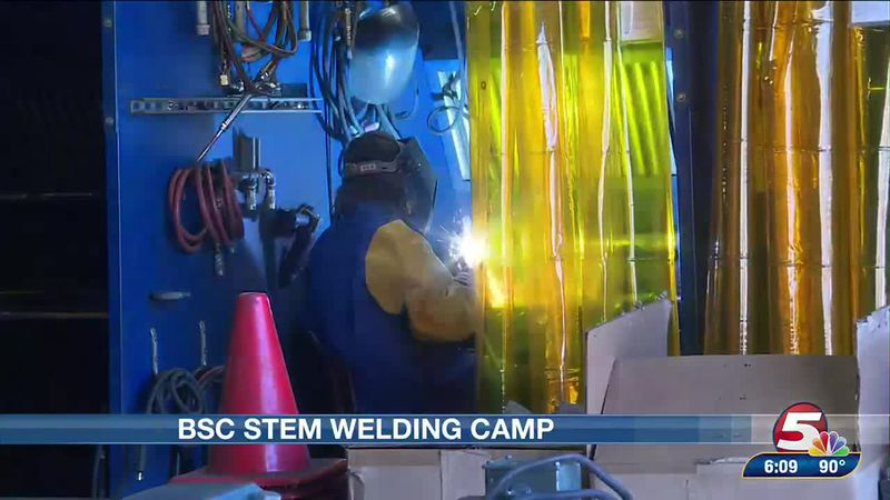 Middle, high school students gear up for some welding at their STEM camp