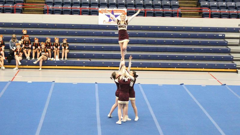 Saturday's state cheer competition in Minot