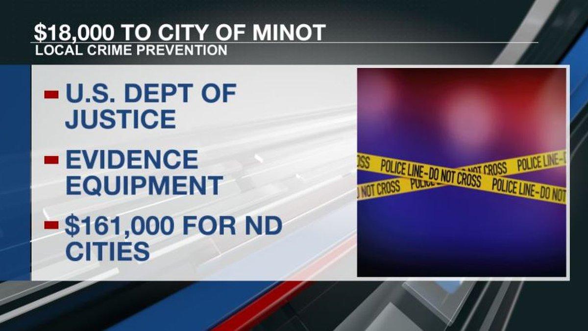 City of Minot gets $18k