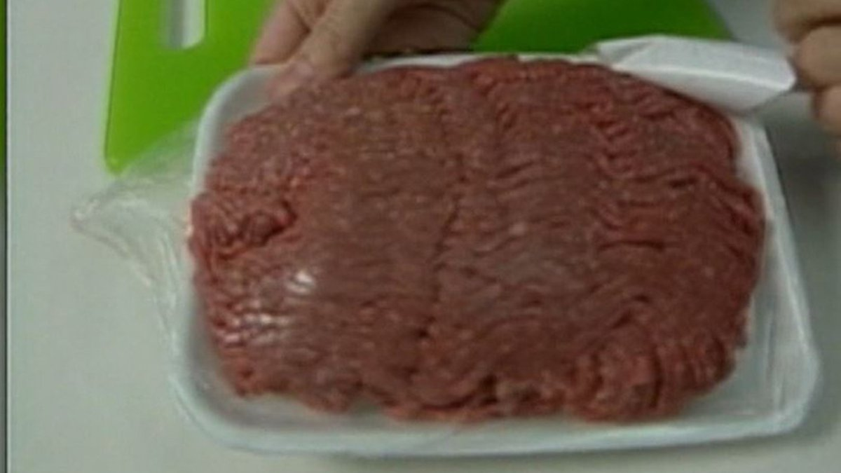 """The raw beef products are marked with the establishment number """"EST...."""