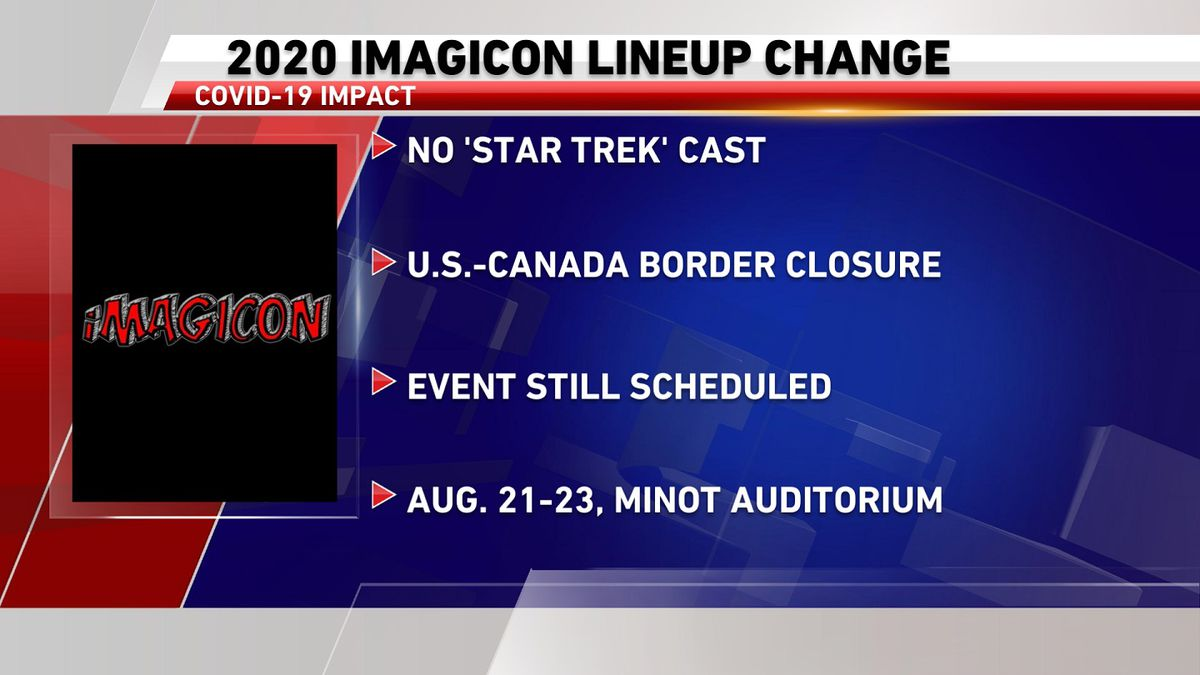 The cast of the modern Star Trek tv show will be unable to attend the 2020 iMagicon in Minot.
