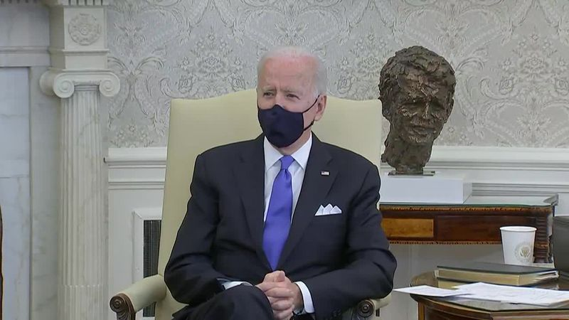 President Joe Biden disagrees strongly with states eliminating COVID-19 restrictions.