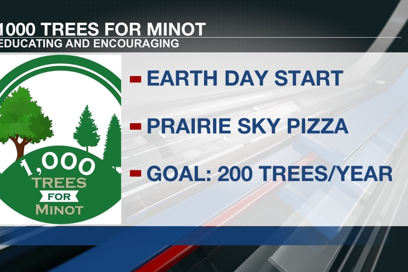 1000 trees for Minot