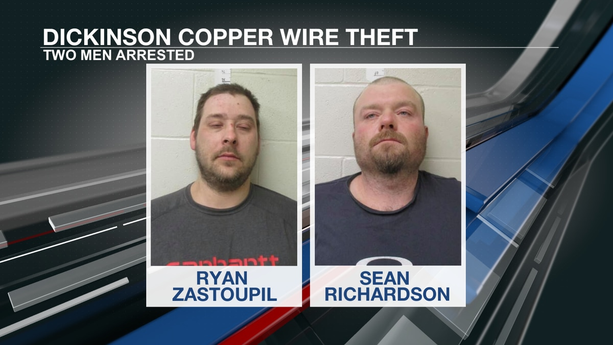Two Dickinson men arrested in copper wire thefts