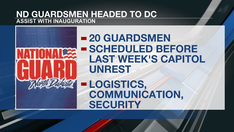 20 ND guardsmen headed to DC