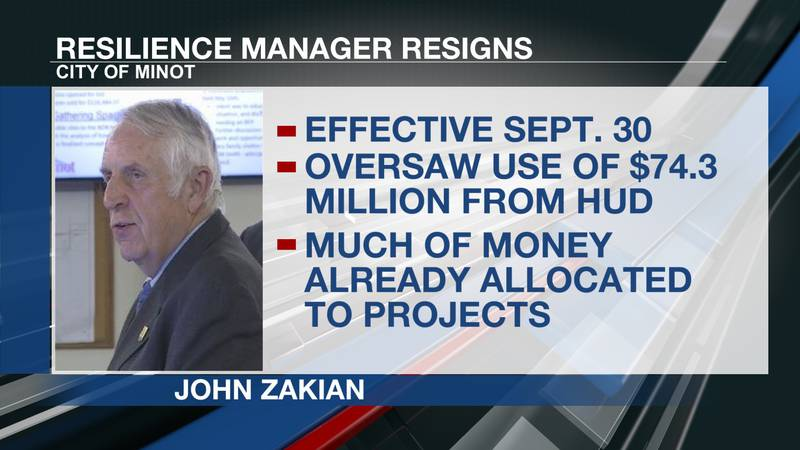 Minot Resilience Manager resigns